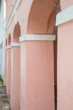 Pink Plaster Columns Royalty Free Stock Image