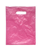 Pink plastic bag. Royalty Free Stock Photography