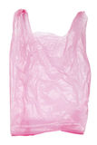 Pink plastic bag isolated. On white background Stock Photos