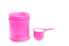 Pink plastic bottle of detergent Royalty Free Stock Image