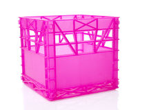 Pink plastic box Stock Photos
