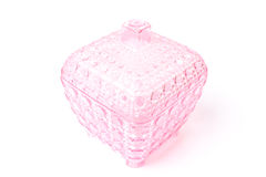 Pink plastic box Royalty Free Stock Image