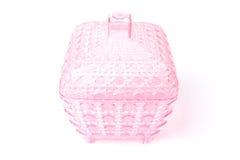 Pink plastic box Stock Photography