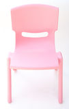 Pink plastic chair for children Stock Image