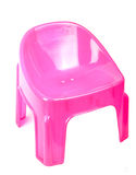 Pink plastic chair Royalty Free Stock Images