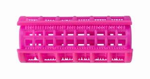 Pink plastic curler Stock Photo
