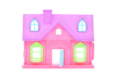Pink plastic doll house Stock Photography