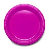 Pink Plastic Plate Stock Photo