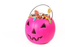 Pink plastic pumpkin Royalty Free Stock Photography