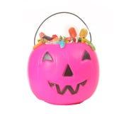 Pink plastic pumpkin Stock Images
