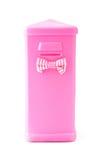 Pink plastic saving box Royalty Free Stock Photography