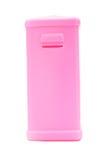 Pink plastic saving box Stock Photos