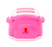 Pink plastic toy toaster Stock Photography