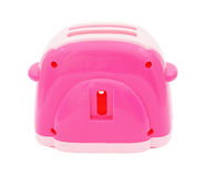 Pink plastic toy toaster Royalty Free Stock Image