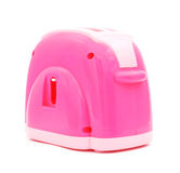 Pink plastic toy toaster Stock Photos