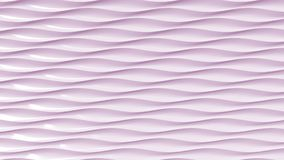 Pink plastic waves, 3D rendering. Pink plastic waves 3D rendering Vector Illustration
