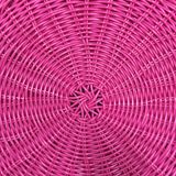 Pink plastic woven basket texture Stock Photography