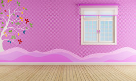 Pink playroom for girl Royalty Free Stock Photos