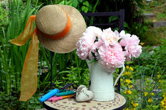 Pink Plower garden Stock Photography