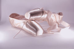 Pink pointe shoes royalty free stock image