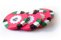 Pink Poker Chips Stock Image