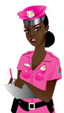 Pink Police Woman Stock Photography