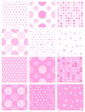 Pink polka dot Royalty Free Stock Photography