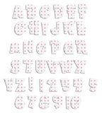 Pink Polka Dot Acrylic Alphabet Stock Photo