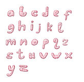 Pink Polka Dot Alphabet Stock Photo