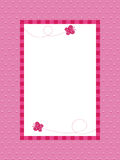 Pink polka dot background with frame Stock Photo