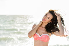 Pink Polka Dot Bikini Royalty Free Stock Image