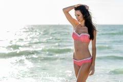 Pink Polka Dot Bikini royalty free stock photography