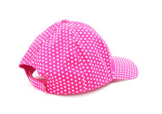 Pink polka dot cap Stock Photography