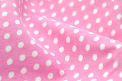 Pink Polka Dot Fabric Stock Photos