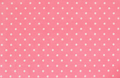 Pink polka dot fabric royalty free stock photos