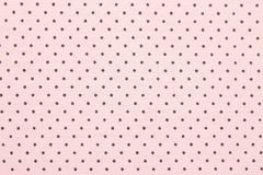 Pink polka dot fabric Stock Image