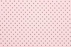 Pink polka dot fabric. Background Stock Image