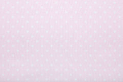 Pink polka dot fabric texture, background Royalty Free Stock Photography