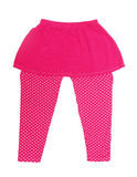Pink polka dot  legging pants for girl Stock Photos