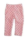 Pink polka dot pants Stock Photography
