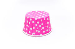 Pink polka dot paper cups  Royalty Free Stock Images