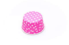 Pink polka dot paper cups  Royalty Free Stock Photo