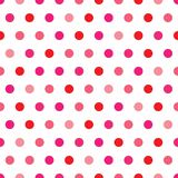Pink Polka Dot Pattern. A background illustration of polka dots in Valentines colors Stock Photography