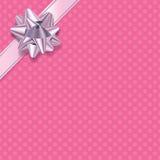 Pink Polka Dot Present Background Royalty Free Stock Image