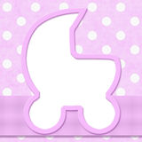 Pink Polka Dot with Ribbon   Stock Photos