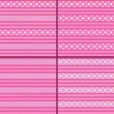 Pink Polka Dot Striped Pattern Royalty Free Stock Photography