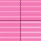 Pink polka dot striped pattern Royalty Free Stock Photography