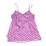 Pink Polka Dot Tank Top Isolated on White Stock Photos