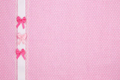 Pink polka dot textile Stock Photography