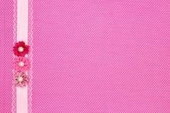 Pink polka dot textile Stock Image